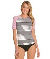 Tommy Bahama Slanted Stripes S/S Rashguard