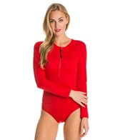 Spanx Long Sleeve Zip Front One Piece