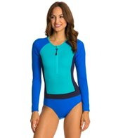 Spanx Color Block Long Sleeve One Piece