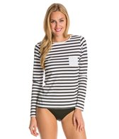 Spanx Long Sleeve Stripe Rashguard