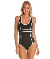 Spanx Hourglass Racerback One Piece Swimsuit