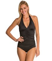 Spanx Ruched Halter Tankini Top