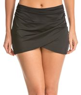 Spanx Side Wrap Swim Skirted Bikini Bottom