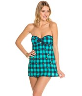 Tommy Hilfiger Fly Dobby Gingham Bandeau Swimdress