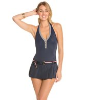 Tommy Hilfiger Hardware Solids Halter Swimdress