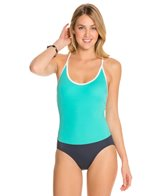 Tommy Hilfiger Color Block Solids Cross Back One Piece Swimsuit