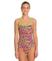 Funkita Mystic Twist Cross Back One Piece Swimsuit