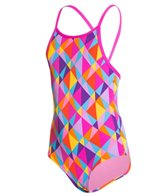 Funkita Girl's Prisim Collision Diamond Back One Piece Swimsuit (8-14)
