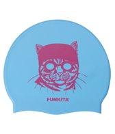 Funkita Cat and Goggles Silicone Swim Cap