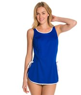 Tuffy Solid Tie Side Swimdress