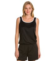 Tuffy Solid Blouson Tankini Top
