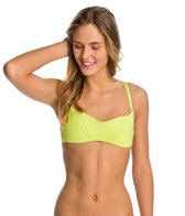 B.Swim Solid Attention Bikini Top