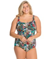 T.H.E. Plus Tobago Shirred Front Girl Leg One Piece