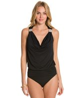 Carmen Marc Valvo Exotic Illusion Tankini Top