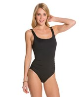 Carmen Marc Valvo Tribal Muse Low Back Beaded One Piece Swimsuit