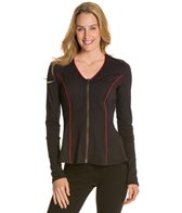 Fit4U Active V-Neck Flared Zip Up Top