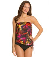 Topanga Swimwear Curacao Bandeau Blouson Tankini Top