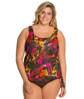 Topanga Plus Size Curacao Mastectomy Tie Side Blouson Top