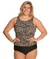 Topanga Plus Size St. Croix Mastectomy Tank Strap Blouson Top