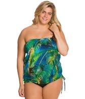 Topanga Plus Size St. Lucia Bandeau Blouson Top