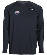 TYR USA Swimming Men's Long Sleeve Swim Shirt