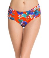 Seafolly Field Trip Ruched Side Retro Bikini Bottom