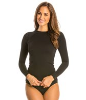 Illusions Activewear Solid Rash Guard