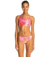 Illusions Activewear Color Me Pastel Two Piece Swimsuit Workout Swimsuit