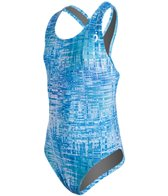 Illusions Activewear Soundwaves Youth Race Back One Piece Swimsuit