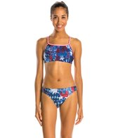 Illusions Activewear Vintage Americana Two Piece Workout Swimsuit