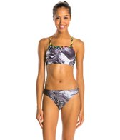 Illusions Activewear Rainbow Galaxy Two Piece Swimsuit Workout Swimsuit