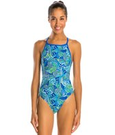 Illusions Activewear Geo Centric Women's Thin Strap One Piece Swimsuit