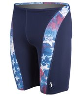 Illusions Activewear A Little Piece of America Men's Splice Jammer Swimsuit