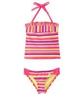 Adidas Girls' Stripe It Lucky Tankini Halter Set (7-16 yrs)