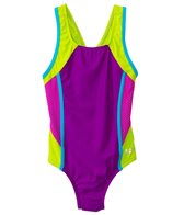 Speedo Girls' Mesh Splice Thick Strap One Piece (7yrs-16yrs)