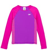 Speedo Girls' Raglan UPF 50+ Long Sleeve Rashguard (7yrs-16yrs)