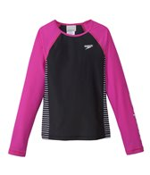 Speedo Girls' Raglan Long Sleeve Rashguard (7yrs-16yrs)