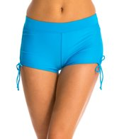 Champion Absolute Fitness Swim Solid Side Shirred Boyshorts