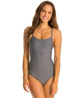 Champion Authentic Heather Signature Lingerie Tank One Piece Swimsuit