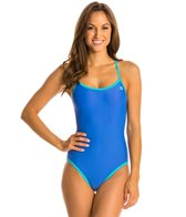 Champion Reversible Solid Openback Lingerie Tank One Piece Swimsuit
