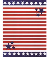 dohler USA Stars & Stripes Towel for Two Beach Blanket 58 x 74
