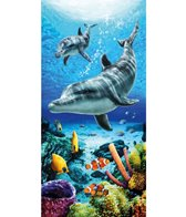 dohler USA Dolphins Life Blue Beach Towel 30 x 60