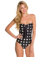 Kate Spade Marmount Bow Bandeau Bikini Top One Piece Swimsuit