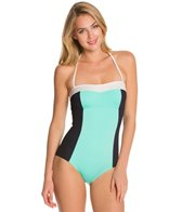 Kate Spade Parrot Bay Colorblock Halter One Piece Swimsuit