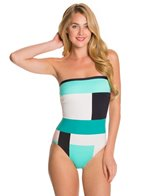 Kate Spade Mykonos Bandeau One Piece Swimsuit
