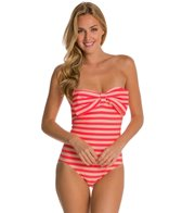 Kate Spade Georgica Beach Stripes Bow Bandeau One Piece