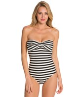 Kate Spade Nahant Shore Bow Bandeau One Piece Swimsuit