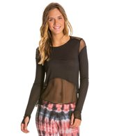 Alo Mesh Sheer Panel Long Sleeve Yoga Shirt
