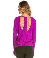 Alo Cutout Back Long Sleeve Yoga Shirt