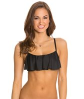 Swim Systems Onyx Underwire Flounce Bikini Top
